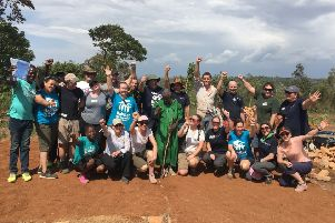 James Palmer joined a team of poperty professionals on the ten-day trip to Kenya