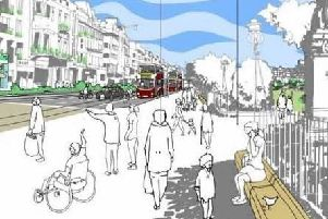 An artist's sketch of what Princes Street might look like