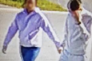 Brazen couple caught on CCTV