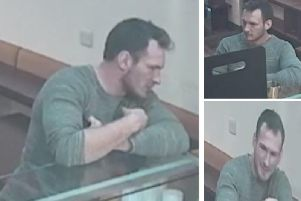 CCTV images of the man police want to speak to as part of their inquiries. Pic: Police Scotland