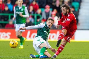 Aberdeen were victorious on their last trip to Easter Road. Picture: SNS