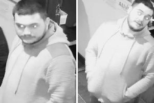 Police have released CCTV images of a man they want to speak to in connection with the attack. Pic: Police Scotland.