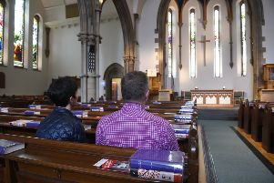 Mayfield Salisbury Church on the corner of Mayfield Road, where they open the church for people to come in and meditate or have quiet reflection time. Pic: Greg Macvean