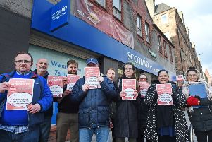 Cllr Ashley Graczyk and residents protested against the student flats plans. Picture: ''' Neil Hanna