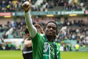 Stephane Omeonga has become a favourite with the Hibs fans