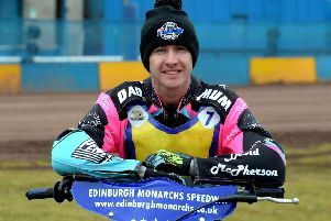 Josh Pickering crashed in the final heat, but still top scored for Edinburgh Monarchs