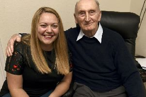 Kerri Mearns saved Hamish Macdonalds (88) life when he collapsed at Morrisons in the Gyle centre.  Pic: Lisa Ferguson