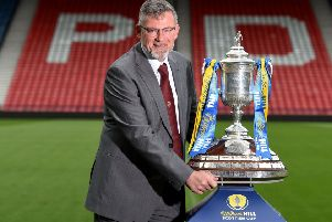 Craig Levein with the Scottish Cup. He is desperate for it to return to Tynecastle