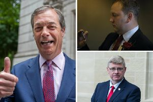 Scottish Labour MPs Ian Murray (top right) and Martin Whitfield (bottom right) say Jeremy Corbyn's EU 'mess' of an election campaign handed Nigel Farage's Brexit Party victory.
