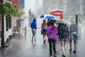 Edinburgh has been issued with a yellow weather warning for rain until Friday (Photo: Shutterstock)