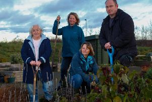 Volunteers at the Midlothian Community Hospital Garden, in Bonnyrigg, which is run by the Cyrenians. Picture: Scott Louden