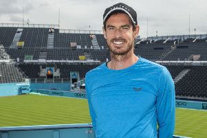 Andy Murray announces the Prime Video Future Talent Award. Picture: Amazon Prime Video/PA Wire
