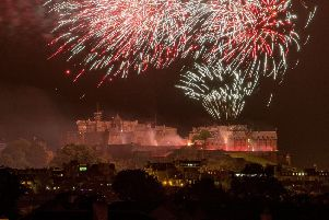 Virgin Money Festival Fireworks, Edinburgh Castle from Heriots Cricket club. Pic: Ian Georgeson