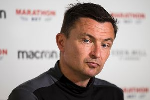 Paul Heckingbottom is enjoying life in charge of Hibs. Pic: SNS