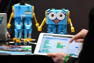 Robotical has sold 5,000 units of Marty the Robot, which helps to teach children coding skills. Picture: Andreas Gebert