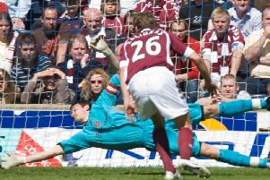 Craig Gordon was sensational for Hearts but it wasn't enough to be the best in the 21st century. Picture: SNS