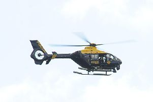 The Police Scotland helicopter was deployed last night