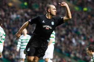 David Murphy was a consistently excellent performer for Hibs. Picture: SNS