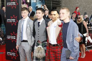 Samuel Bottomley, Rian Gordon, Viraj Juneja, Lewis Gribben stars of  Boyz In The Wood. Picture: � EIFF, Edinburgh International Film Festival All Rights Reserved
