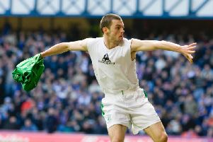 Ivan Sproule produced some memorable moments for Hibs. Picture: SNS