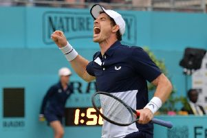 Andy Murray celebrates victory at Queen's. Picture: AFP/Getty