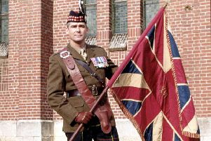 Captain Gary Tait of the 1st Battalion, The Royal Scots. Picture: McCrae's Battalion Collection/PA.