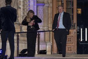 Boris Johnson and Carrie Symonds pictured last year
