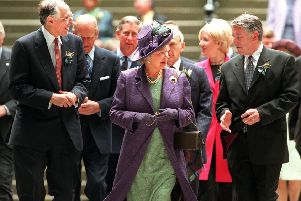 The Queen, Sir David Steel and Donald Dewar attend the opening ceremony of the Scottish Parliament on July 1, 1999. Picture: Paul Chappells