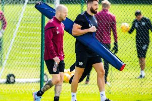 Steven Naismith is put through his paces at Riccarton