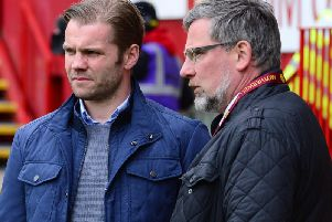 Robbie Neilson and Craig Levein during the former's spell in charge of Hearts.