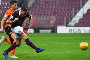 Jamie Walker enjoyed a promising return to Tynecastle.