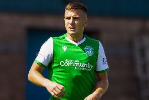 Josh Campbell made his Hibs debut against Stirling Albion. Pic: SNS