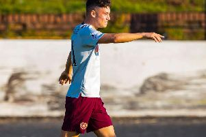 Hearts youngster Anthony McDonald.