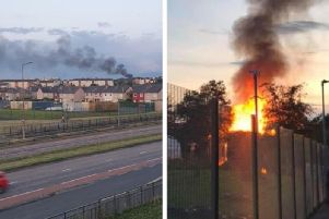 The black smoke from the fire could be seen across Edinburgh