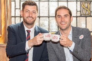 Edinburgh Council's deputy leader Cammy Day and leader Adam McVey (Picture: Ian Georgeson)