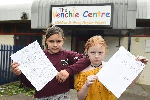 Paige Stoddart (left) and Ellie Wilson wrote the letter to the First Minister