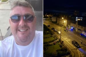 The man who was murdered on Lochend Road South in Restalrig has been named locally as Andy McCarron.