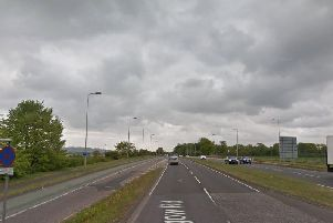 The A8 Glasgow Road at the eastbound exit from Edinburgh Airport. Pic: Google Maps.