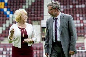 Ann Budge is fully supportive of Hearts manager Craig Levein. Pic: SNS