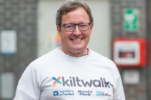 CARDIAC ARREST SURVIOR TO KILTWALK FOR CAUSE CLOSE TO HIS HEART'Donald Scott will walk 24 miles to raise funds to install more defibrillators across Edinburgh ''Just one-year on from the day a defibrillator saved his life, an Edinburgh man has pledged to walk this year's Kiltwalk to raise money to make the emergency devices more widely available across the city. ''Duddingston's Donald Scott suffered a cardiac arrest in the middle of Edinburgh Waverley station while on the way to a Fringe show on 3 August last year. ''Next month, the 48-year-old will walk the 24-mile Mighty Stride to raise funds and awareness for St John Scotland, the same charity which installed the device which saved his life.''The accountant has already raised more than ?1,500 towards his target of ?2,000, which will help the charity install more Public Access Defibrillators across the city, and provide additional CPR training. ''As well as raising money for St John Scotland, Donald, who is an ambassador for the charity, believes taking par