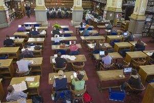 The reading room at Edinburgh's Central Library  Picture Ian Rutherford