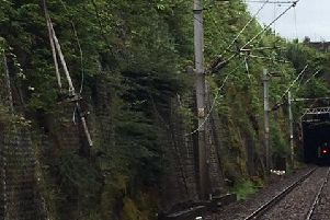 Overhead line damage near Bishopton. Picture: ScotRail Alliance