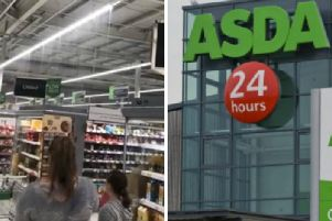 A leak appeared at the Asda Leith superstore on Saturday. Picture: Connor Moore/TSPL
