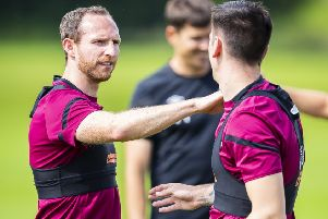 Aidan White enjoys a training session as he targets full fitness and match sharpness. Pic: SNS