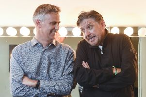Playhouse Theatre Director Colin Marr with comedian Craig Ferguson