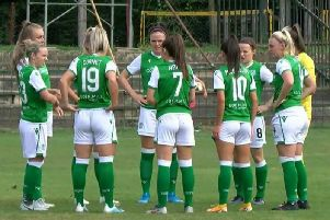Hibs Ladies defeated Pomurje 2-1 in Beltinci to reach the last 32 of the Champions League