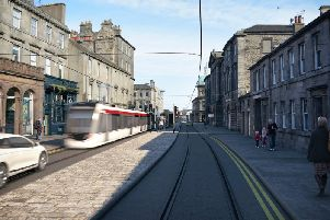 An artist's of the proposed tram extension to Newhaven. Picture: Edinburgh Council