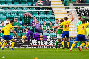 Hibs conceded three times against Championship side Morton.