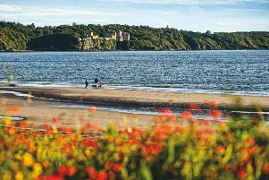 Culzean Castle from Croy Shore, South Ayrshire.'Picture Credit : Paul Tomkins