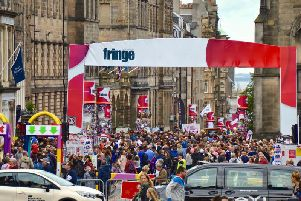Crowds during the Edinburgh Fringe.